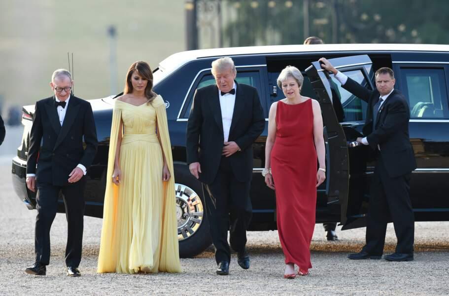 Donald Trump et son épouse en visite en Angleterre.