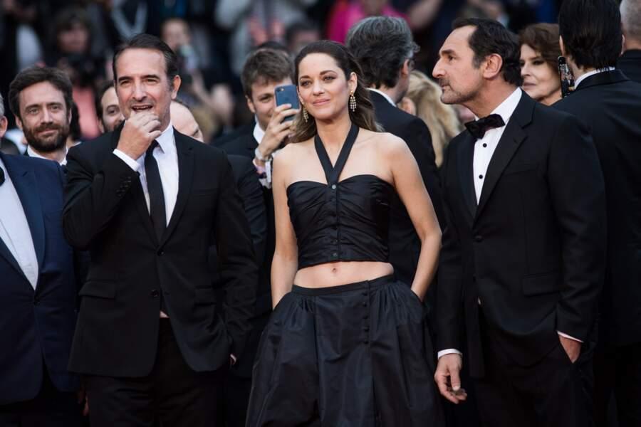 """Jean Dujardin (en Berluti), Marion Cotillard et Gilles Lellouche lors de la projection de """"La Belle Epoque"""""""