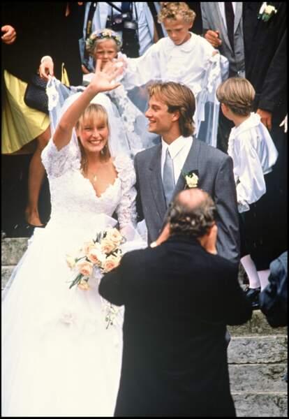 David Hallyday et Estelle Lefébure se sont mariés un an après leur rencontre