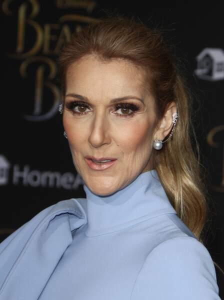 """Céline Dion lors de la première de """"La belle et la bête"""", à Hollywood, en 2017"""