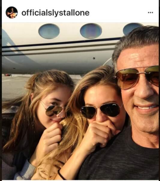 Silvester Stallone et 2 de ses filles, Scarlet et Sophia
