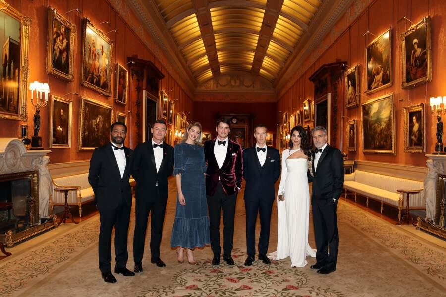 Chiwetel Ejiofor, Luke Evans, Tamsin Egerton, Josh Hartnett, Benedict Cumberbatch, George Clooney et sa femme Amal
