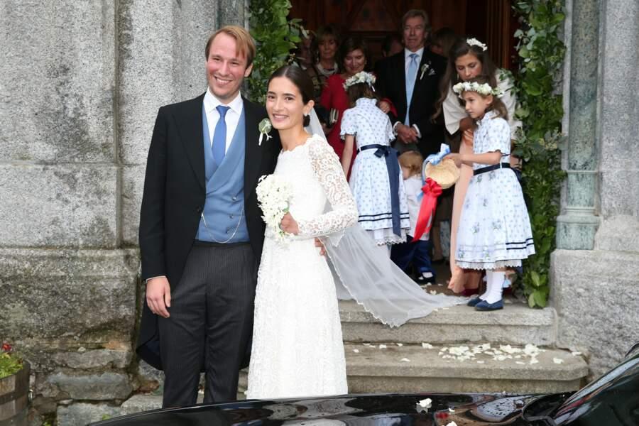 Konstantin de Bavière et sa femme Deniz lors de leur mariage à St Moritz, en Suisse, le 1er septembre 2018