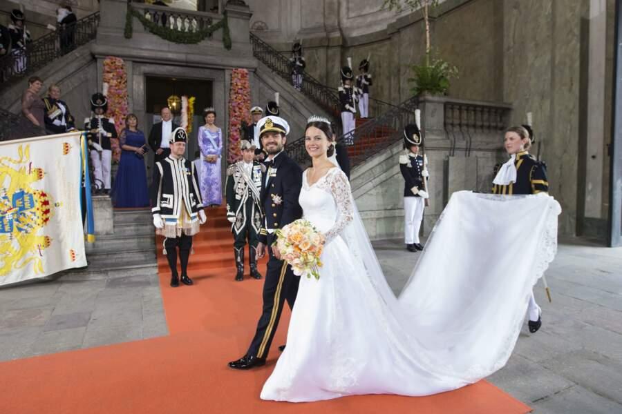 Mariage du prince Carl Philip de Suède et Sofia Hellqvist en 2015