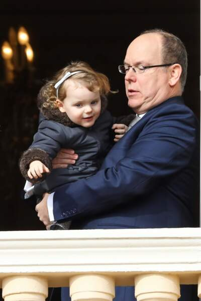 Albert II de Monaco et sa fille Gabriella