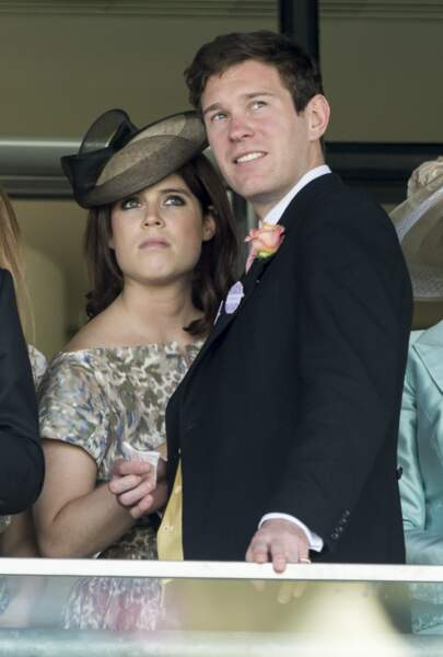 La princesse Eugenie d'York et son futur mari Jack Brooksbank à la course hippique Royal Ascot 2015