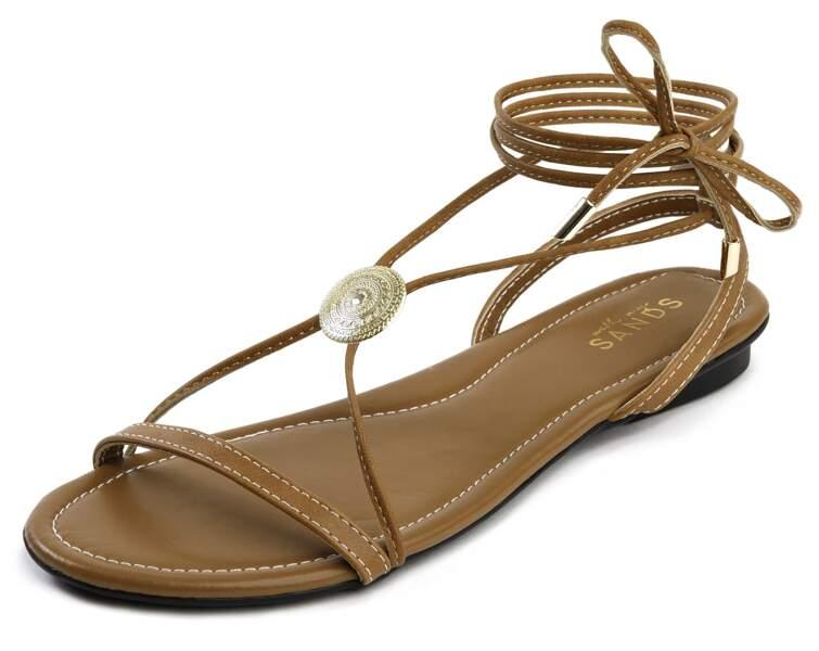 Sandale avec médaillon vintage, 85 €, With My Sands.