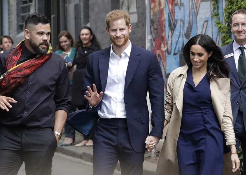 Meghan Markle et le Prince Harry profite de leur rencontre avec le public à Melbourne.