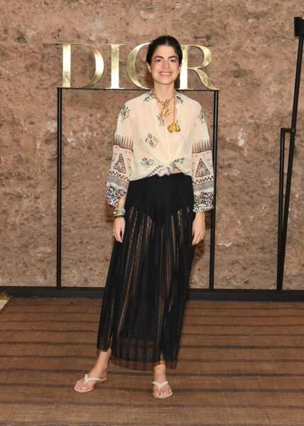 L'influenceuse américaine Leandra Medine ose la décontraction signée Dior pour le défilé Croisière 2020.