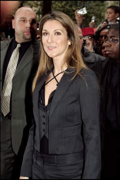 Céline Dion de passage à Paris en 2005