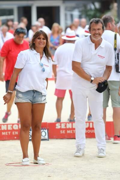 Jean-Luc Reichmann et sa femme Nathalie ont pris du bon temps
