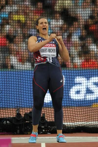 Mélina Robert-Michon a remporté la médaille de bronze au lancé de disque