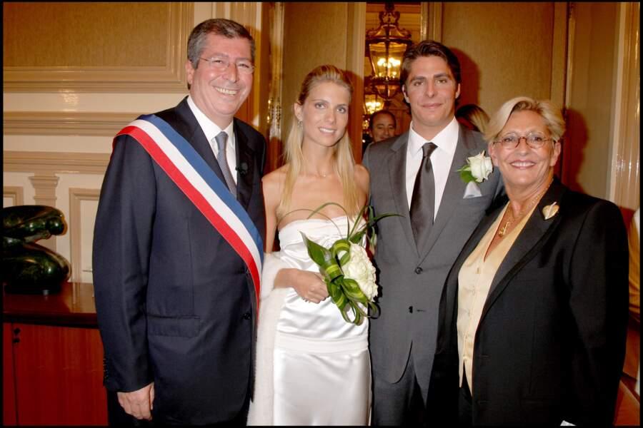 MARIAGE D'ALEXANDRE BALKANY ET SOLENNE TERNAND GALLAGHER A LA MAIRIE DE LEVALLOIS PERRET.