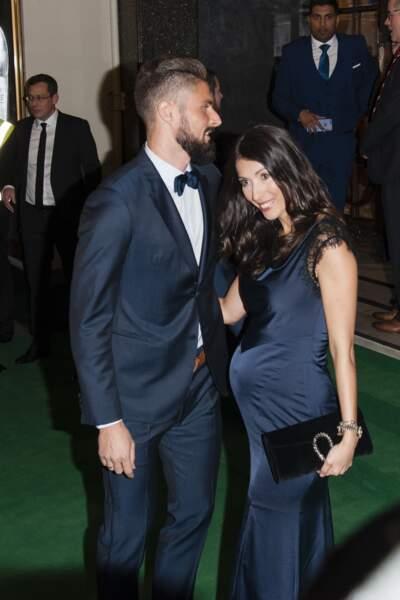 """Olivier Giroud et sa femme Jennifer aux """"Best FIFA Football Awards"""""""