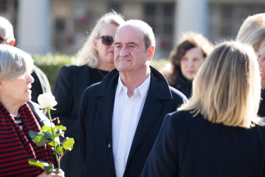 Pierre Lescure, à l'enterrement de Philippe Gildas, au cimetière du Père-Lachaise, à Paris, le 5 novembre 2018.