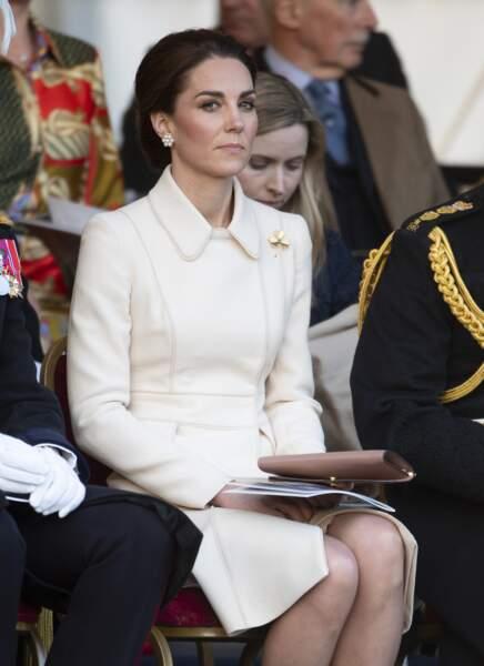 """Kate Middleton assiste à la parade militaire """"Beating Service at Horseguards Parade"""" à Londres, le 6 juin 2019."""