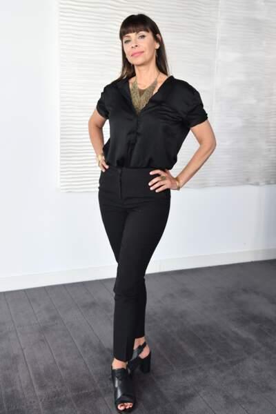 Mathilda May (54 ans) lors du festival de la Comédie de Monte-Carlo, le 4 mars 2019