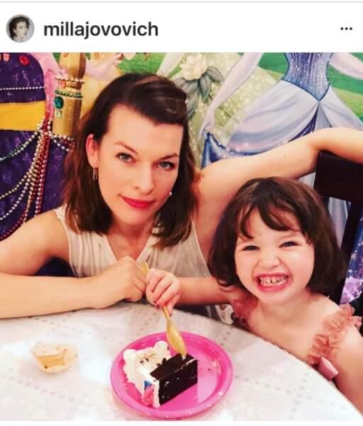 Milla Jovovich et sa fille Dashiel
