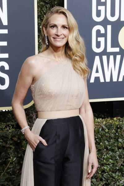 Julia Roberts (51 ans) lors des Golden Globes à Los Angeles en janvier 2019