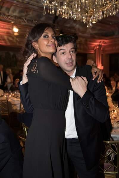 Karine Lemarchand et Stéphane Plaza au gala des Stéthos d'Or à Paris le 19 mars 2018