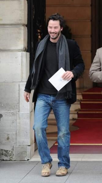 Keanu Reeves, aux abords du Ritz