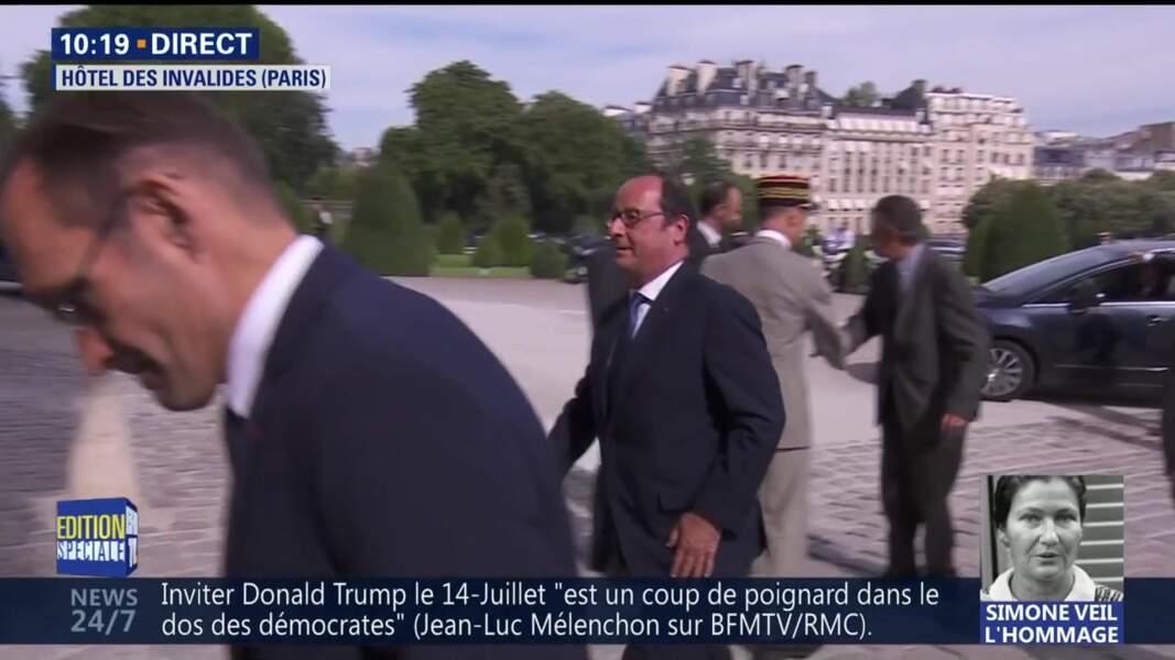 Obsèques de Simone Veil : l'ancien président François Hollande