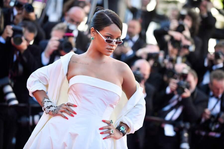 Sur le tapis rouge cannois, Rihanna arborait des pièces phares de la Haute Joaillerie Rihanna Loves Chopard