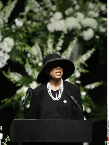 La femme de Mohamed Ali, Lonnie Ali a prononcé un discours