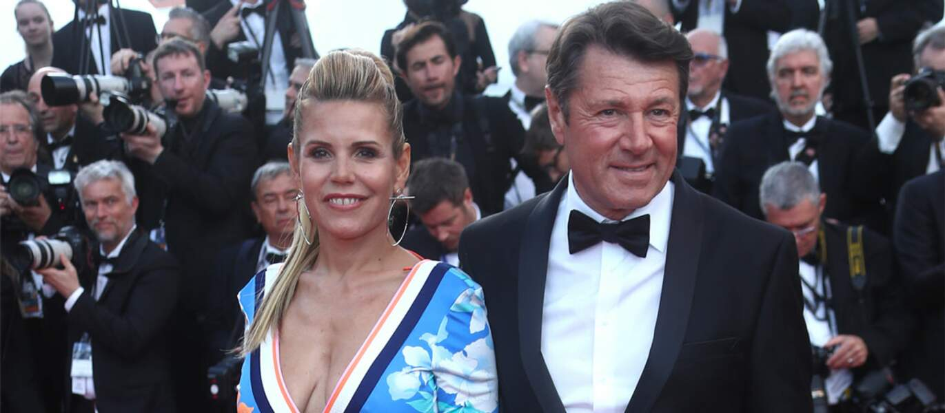 Christian Estrosi et sa compagne ont monté les marches du festival de Cannes en mai 2018. Glamour.
