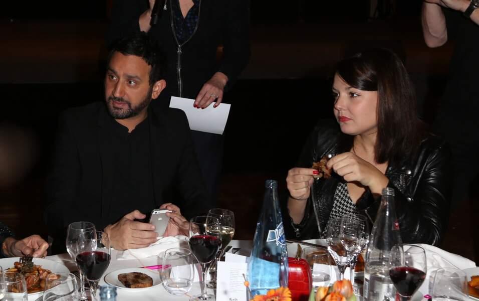 Cyril Hanouna et sa compagne Émilie, à la soirée de la Fédération Internationale des Droits de l'homme en 2013