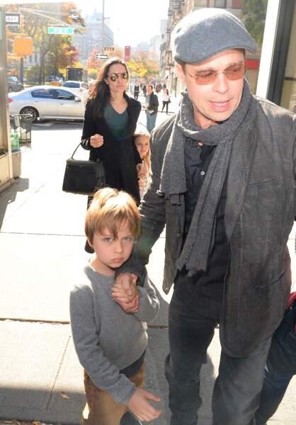 Brad Pitt, Angelina Jolie et leurs enfants à New York en 2015