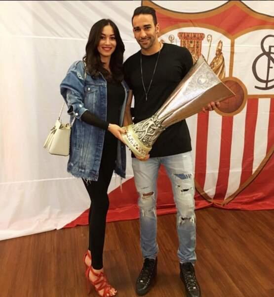Adil Rami et Sidonie Biémont