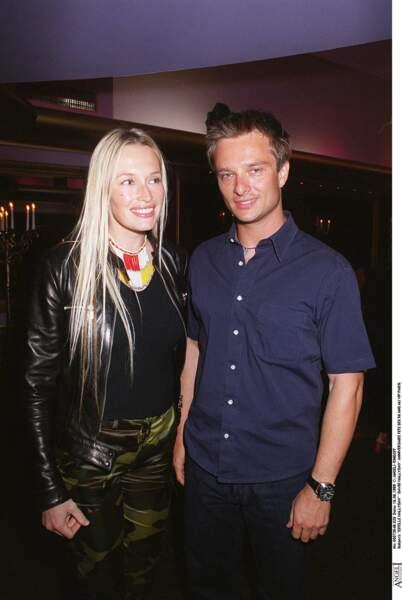 Estelle et David Hallyday, pour la soirée d'anniversaire de Johnny Hallyday à Paris en 1999