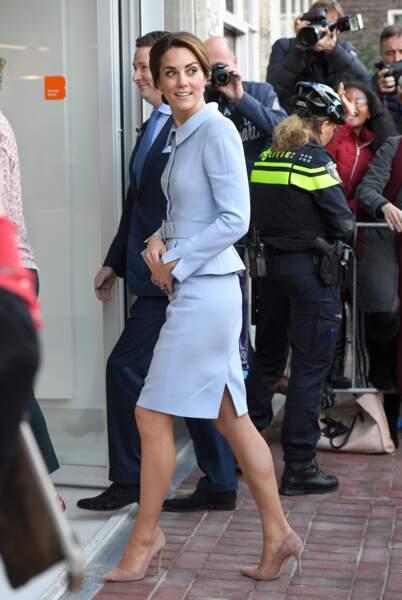 Kate Middleton en visite à Rotterdam au Pays-Bas le 11 octobre 2016