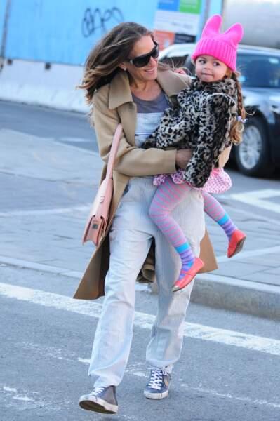 Sarah Jessica Parker etTabitha à New York.