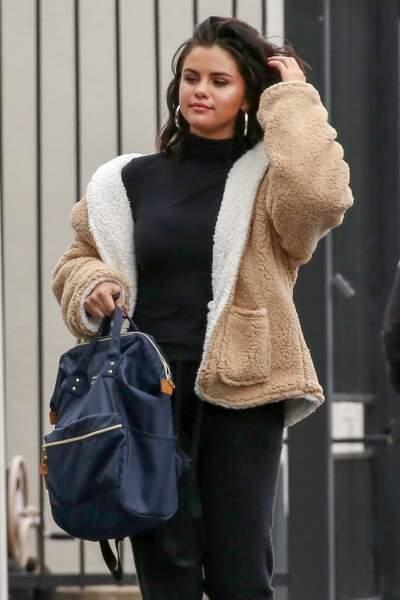 Selena Gomez aperçue dans les rues d' Orange County, le 13 février 2019
