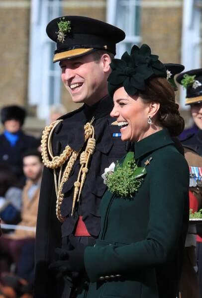 Kate Middleton et le prince William assistent à la parade des Irish Guards lors de la St Patrick, le 17 mars 2019.