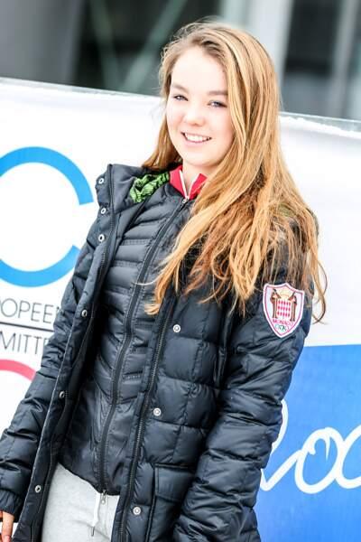 Alexandra de Hanovre au Festival Olympique de la Jeunesse Européenne à Dornbirn le 26 janvier 2015