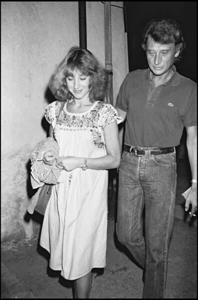 Johnny Hallyday et Nathalie Baye sur la Côte d'Azur en 1983