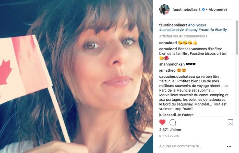 Faustine Bollaert passe ses vacances en Canada avec son mari Maxime Chattam et leurs deux enfants, Abbie et Peter