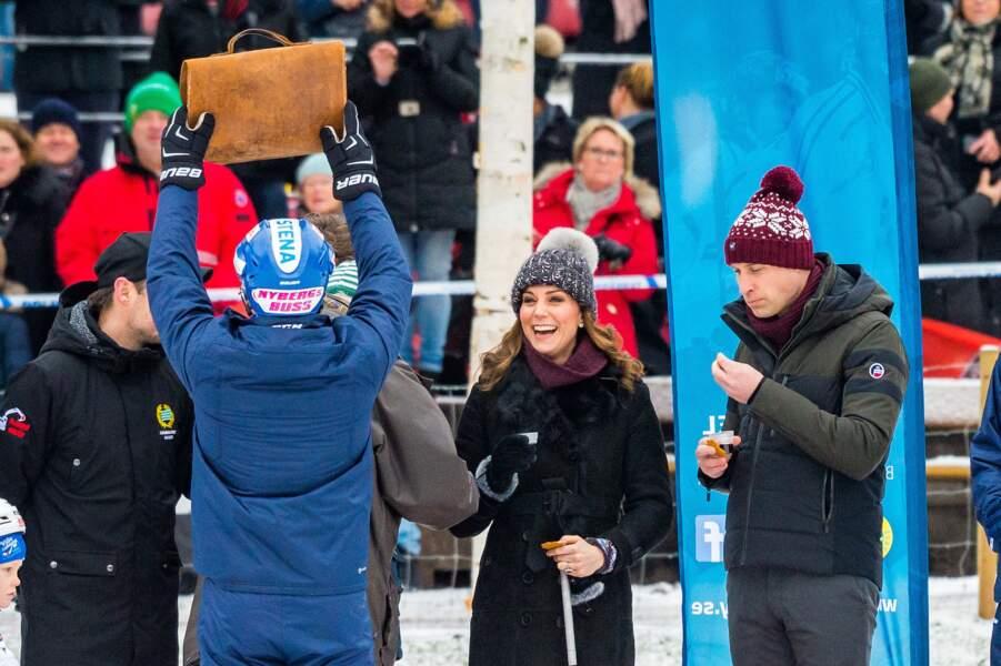 Kate Middleton et le prince William en Suède, janvier 2018.