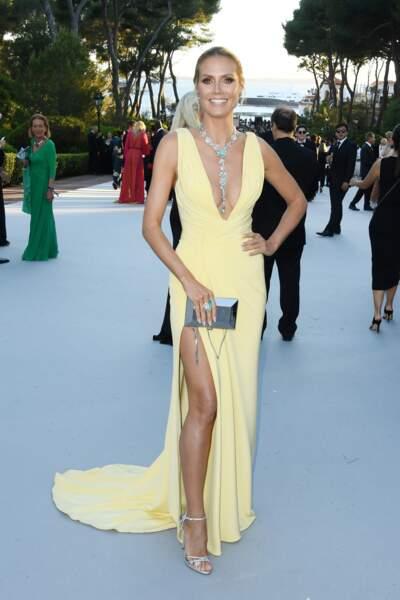 Heidi Klum en Atelier Versace, collier Lorraine Schwartz
