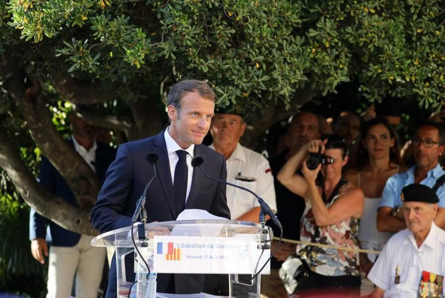 Emmanuel Macron a également donné un discours