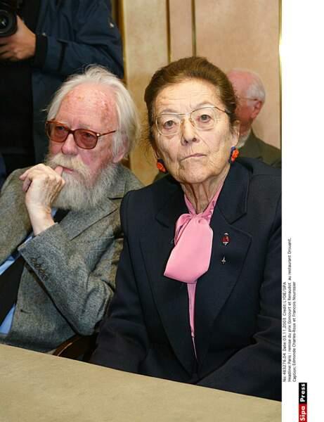 Edmonde Charles-Roux et Francois Nourissier