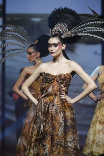 Le but était aussi de démontrer l'infuence des styles venus d'Afrique sur la mode parisienne
