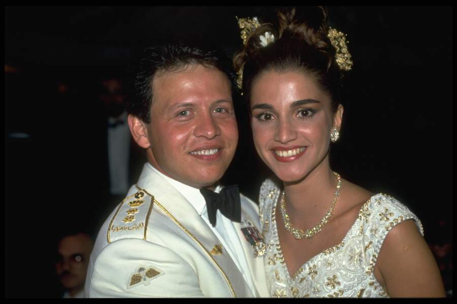 Mariage du Prince Abdallah II et de Rania le 10 juin 1993