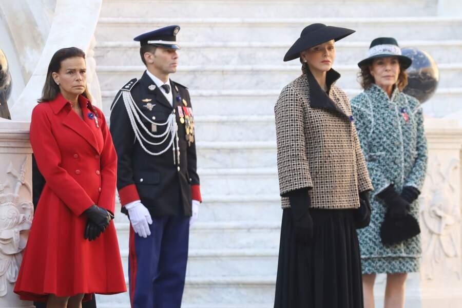Stéphanie de Monaco, Charlene de Monaco et Caroline de Hanovre, toutes trois très élégantes