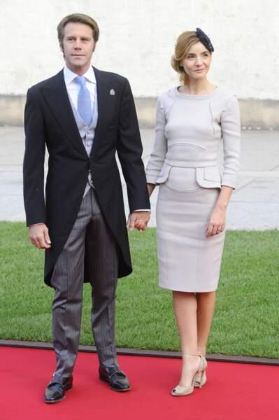 Emmanuel Philibert de Savoie et Clotilde au mariage du prince Guillaume de Luxembourg en 2012