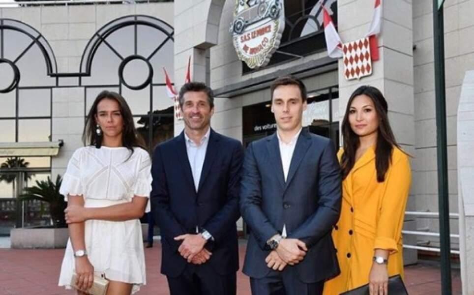 Pauline & Louis Ducruet, Patrick Dempsey et Marie Chevallier le 13 juin 2018