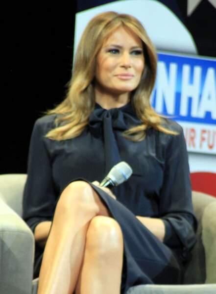 Melania Trump modeuse, mais aussi Première dame engagée à Las Vegas, le 5 mars 2019